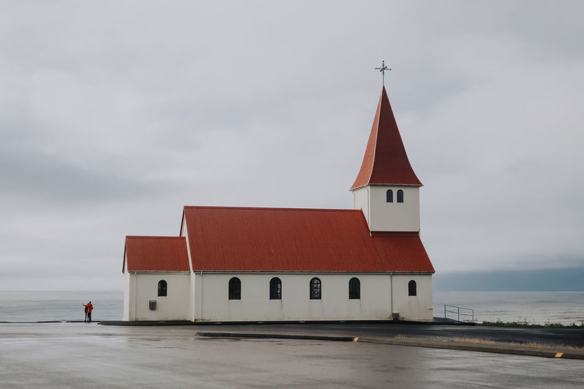 Church Iceland Rain Architecture Building Exterior Built Structure Canon Cloud - Sky Day Europe Outdoors Place Of Worship Religion Roadtrip Sea Selfie Sky South Iceland Spirituality Vik