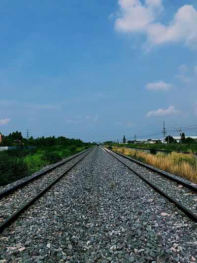 Railroad Track Rail Transportation Transportation Sky The Way Forward Day Track Railway Track No People Cloud - Sky Nature Outdoors Beauty In Nature
