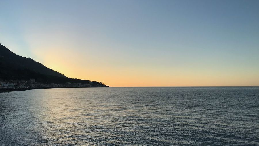 Sky Water Beauty In Nature Sea Scenics - Nature Sunset Tranquility Mountain Tranquil Scene Horizon Nature