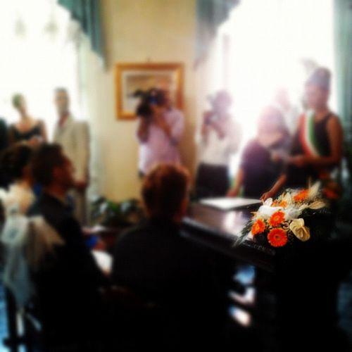Il Matrimonio Comune Tricolore Color fiori arancione