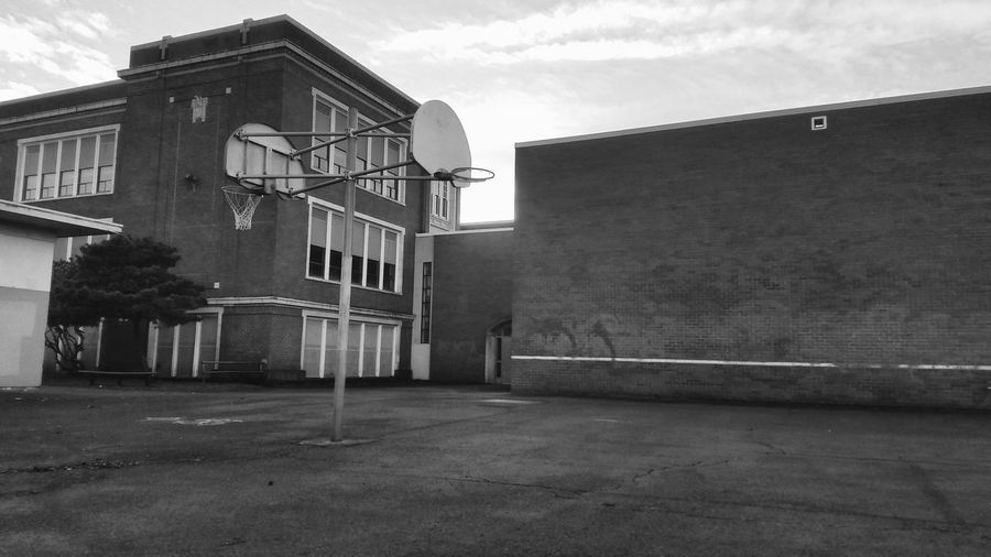 Architecture Basketball Building Exterior Built Structure Cloud - Sky Day Hoop Life Hoops No People Outdoors Sky Tree