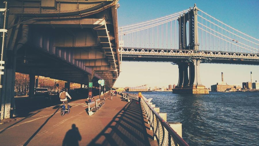 South Street, Along the East River, Two Bridges, Manhattan Walking Around Two Bridges Manhattan Bridge NYC