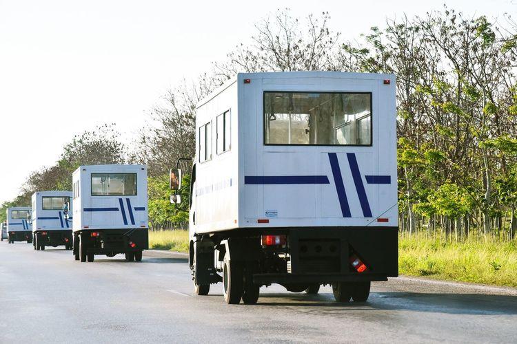 Transportation Mode Of Transport Land Vehicle Semi-truck Road Day No People Stationary Outdoors Sky Santa Clara Cuba Cuba