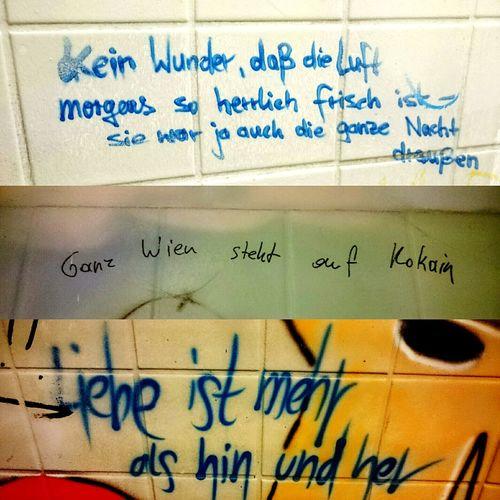 Sayings Toilet Toilette Toilette Art Berlin Spreeufer Toilet Art Graffitiporn Weisheiten Schiffbauerdamm Ständigevertretung