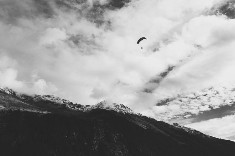 Up in the air Adventure Alps Southtyrol  Vscocam VSCO Paragliding Sky And Clouds Pictureoftheday Sport WeLoveNature
