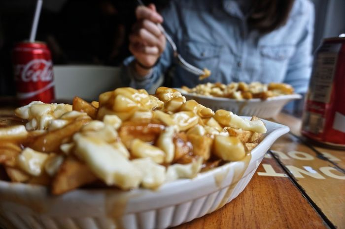 Close-up Day Deep Fried  Food Food And Drink Freshness Indoors  Montréal One Person People Plate Poutine Ready-to-eat Table Unhealthy Eating