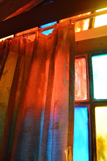 View from Havela-room in Jodhpur, India. Artistic Artsty Close-up Colours And Patterns Colours Of Life Curtain Drapes  Hanging Havela Illuminated India Indoors  Light And Shadow Low Angle View Multi Colored No People Red Window