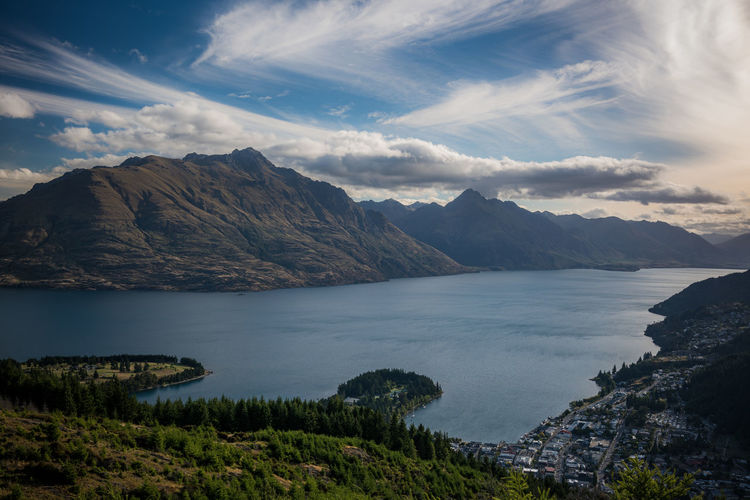 Scenes along the Queenstown Hill track in Queenstown, New Zealand Day Lake Mountains New Zealand Queenstown Summer Sunny View Wakatipu Weather