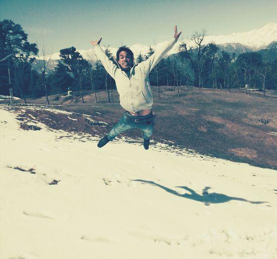 Devriyatal Beautiful Place Snow Lake View Bright Sunshiny Day Fun With Cousins