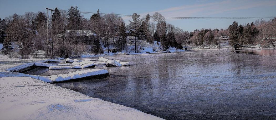 Cold Temperature Frozen Nature No People Outdoors Snow Water Winter