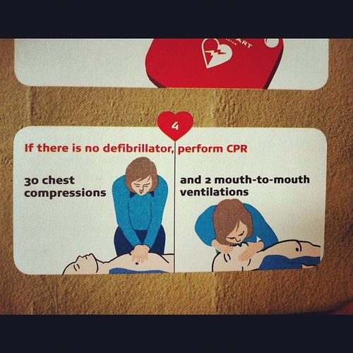 Do you know what to do? Learn and you can save a life! ❤ CPR  Defibrillator Chestcompressions Mouthtomouth heartattack cardiacarrest