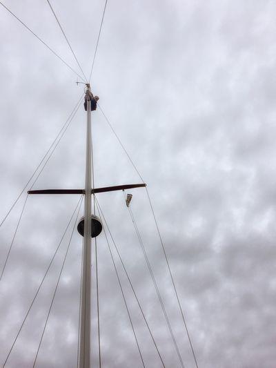 Heights Upthemast Mast Sailing Sail Tall - High Cloud - Sky