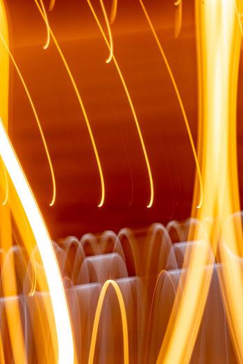 Full frame shot of yellow light trails