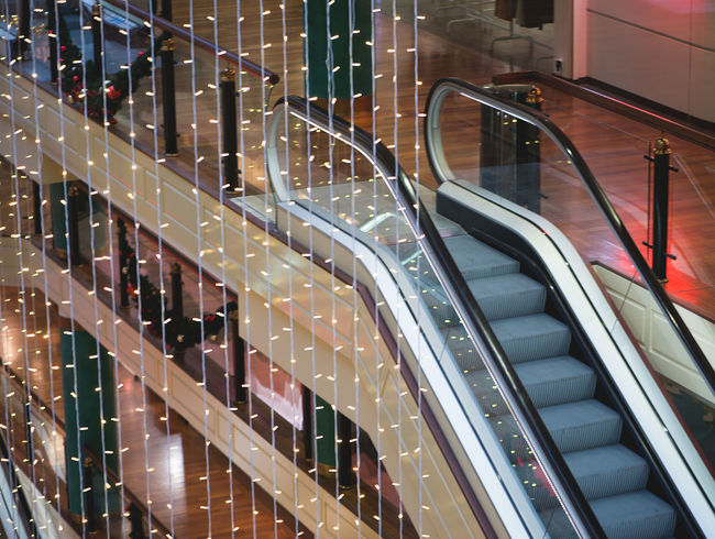 Center Christmas Market Shopping Shopping Center Abstract Architecture Background Big Store Building Built Structure Day Decoration Escalator Illuminated Indoors  Interior Light Equipment Modern No People Shopping Time Technology Transportation