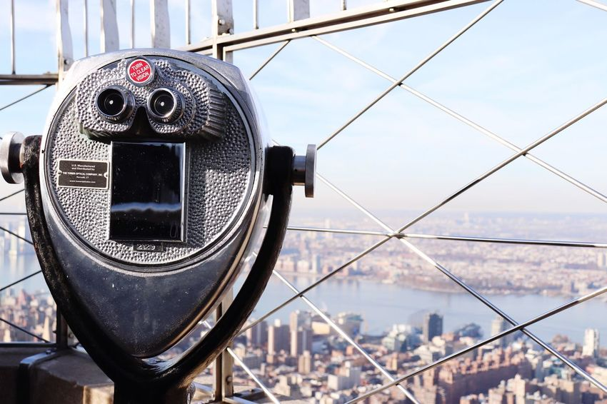 Best EyeEm Shot EyeEm Selects Coin-operated Binoculars Cityscape City Architecture Surveillance Built Structure Building Exterior Metal Skyscraper Day No People Travel Destinations Outdoors Close-up Technology Hand-held Telescope Sky Urban Skyline Be. Ready. EyeEm Ready