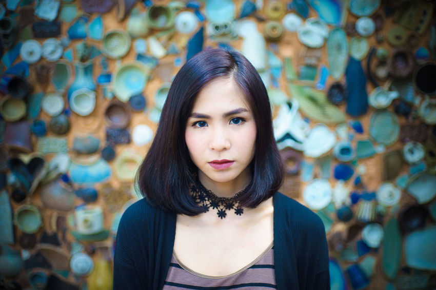 Adult Adults Only Beautiful People Beautiful Woman Beauty Charming Cheerful Close-up Confidence  Females Headshot Human Body Part Indoors  Looking At Camera One Person One Woman Only One Young Woman Only Only Women People Portrait Smiling Standing Women Young Adult Young Women