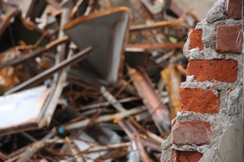 Briks Broken Damaged Deterioration Focus On Foreground Ruined Ruins Trow Away