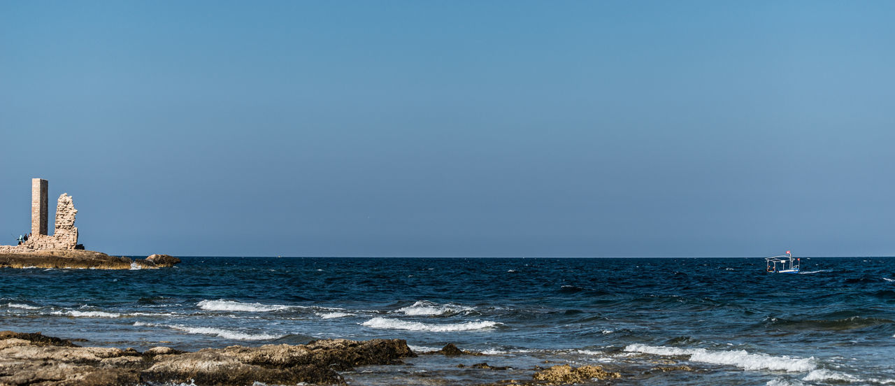Mahdia Mahdia/Tunisia Old Gate Panorama Sea Ship Waves Waves, Ocean, Nature EyeEmNewHere.