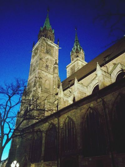 Church Nuremberg Nürnberger Impressionen Night Photography