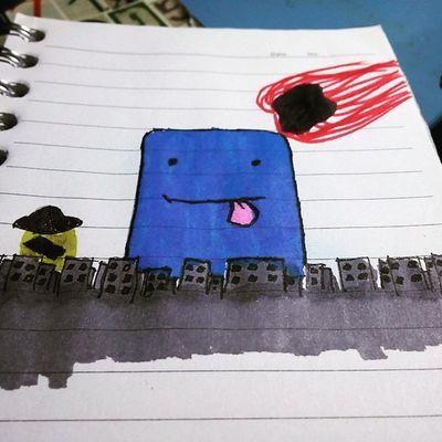 Doodle Desenho Instadoodle Marcadores Papelcanetaeumaideia City Testando meus marcadores. Agora sei q esse tipo de papel n suporta passar o marcador mais de uma vez. 😆😆😆😆