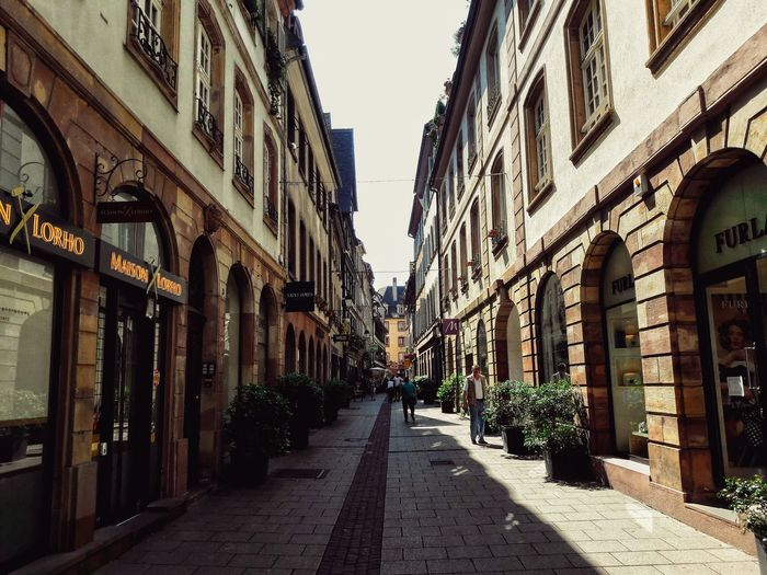 Strasbourg EyeEm Best Shots EyeEm Streets City Clear Sky Diminishing Perspective Architecture Sky Building Exterior Built Structure vanishing point Alley The Way Forward