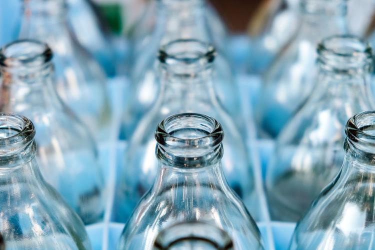 Full frame shot of bottles