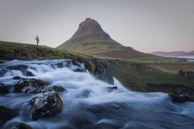 Lost In The Landscape Tranquil Scene Scenics Beauty In Nature Tranquility Nature Landscape Mountain Water Waterfront Outdoors Day Grass No People Waterfall Sky Iceland Mountain View