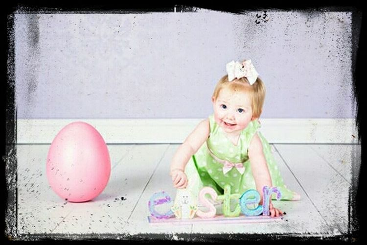 this is my little niece, she want to say happy Easter to you guys :-) People Watching Easter Enjoying Life Love