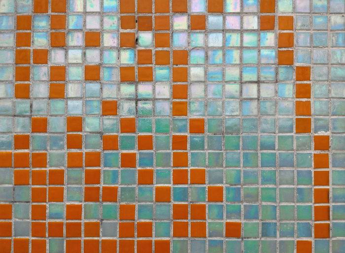 Full frame shot of mosaic tiles
