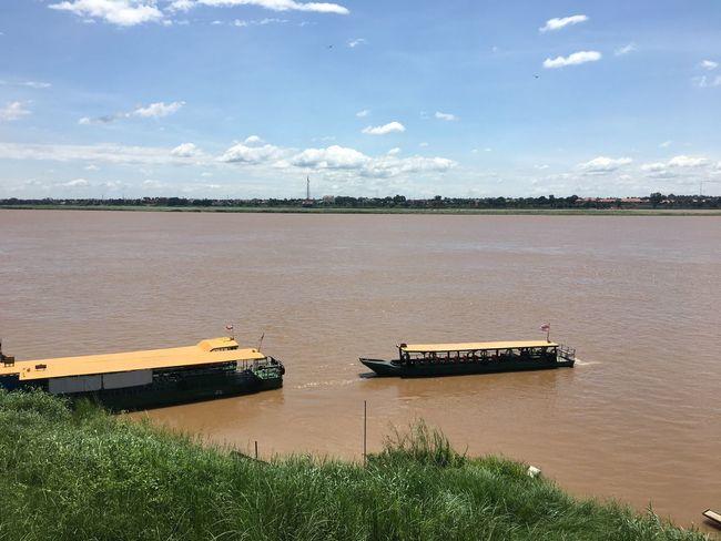 Thailand Laos, Lao Trip Khong River Journey Public Transportation Shipping  Boat Water Day River Transportation Outdoors Nature Mukdahan