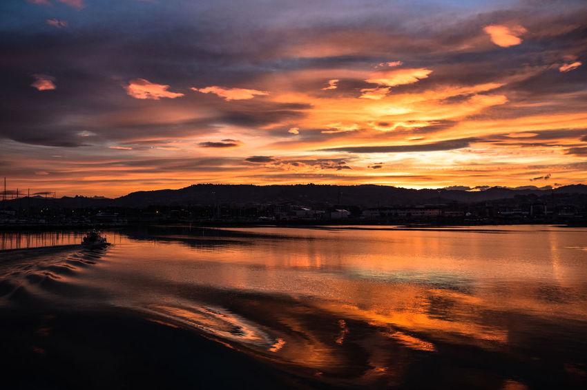 Home. Adriatic Sea Cloud - Sky Dramatic Sky Idyllic Nature No People Outdoors Reflection Scenics - Nature Sea Sky Sunset Tranquil Scene Tranquility Water The Great Outdoors - 2018 EyeEm Awards The Traveler - 2018 EyeEm Awards