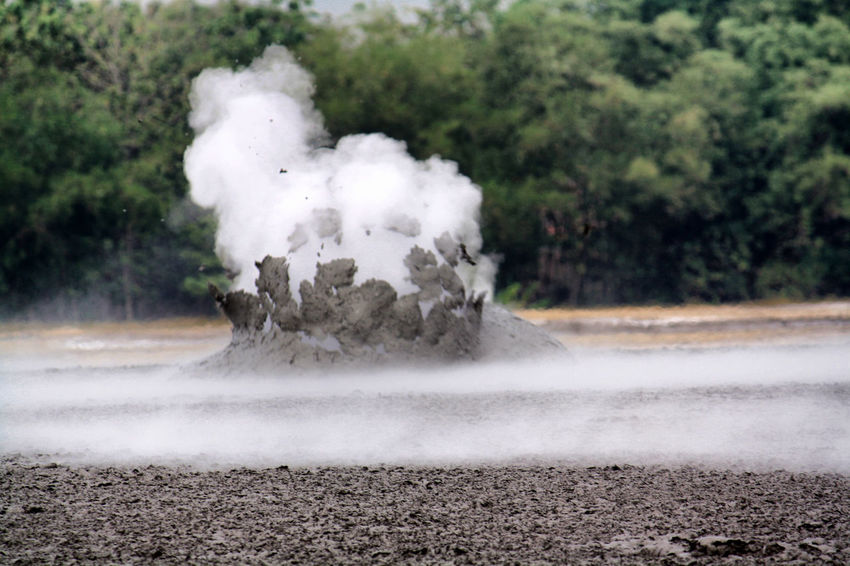 Mud Crater field Dust Environment Exploding Geology Heat - Temperature Land Nature No People Non-urban Scene Outdoors Pollution Power In Nature Scenics - Nature Smoke - Physical Structure Steam Water
