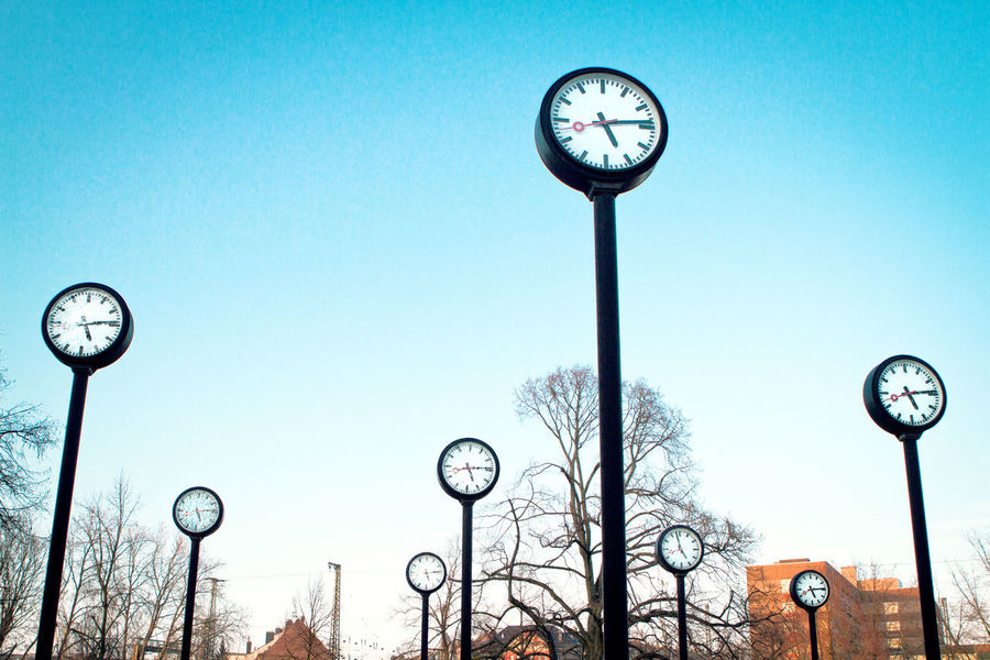 Clear Sky Clock Clock Face Clocks Date Day Deadline Extraordinary  Extraordinary Things Future Low Angle View Many No People Outdoors Past Present Sky Stress Time Time To Tree