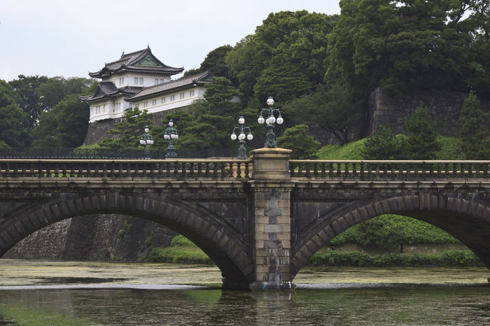 Tokyo, Imperial Palace and bridge Arch Arch Bridge Architecture ASIA Bridge Bridge - Man Made Structure Building Exterior Built Structure Connection Day Engineering History Imperial Palace Imperial Palace Tokyo Japan Metropolis No People Outdoors River Riverbank Stone Material Tokyo Tree Water Waterfront