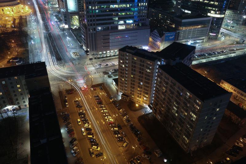 Warsaw Warszawa  Poland Polska Skyline Nightphotography Street Cityscape Landscape Allofthelights Architecture Socialism