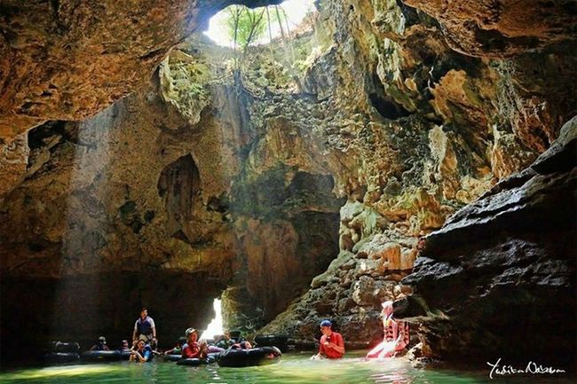 Cave Pindul, Gunung Kidul Jogjakarta Cave Pindul Gunung Kidul, Yogyakarta Wonderful Indonesia Cave River HDR