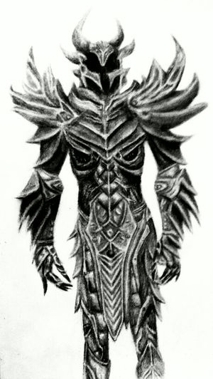 Me Art Drawing Skyrim My Drawing Supposed To Be Asymmetrical