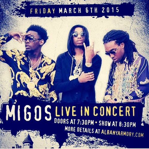 1stconcert Concert Migos Albany New York Upstateny YRN Qc Excited :) Early Bday Gift Vip