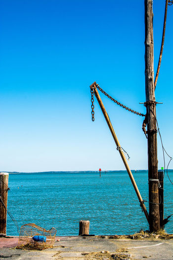 Baltimore Beach Beauty In Nature Blue Clear Sky Cufotos Day Horizon Over Water Mary Nature Nikon Nikonphotography No People Outdoors Scenics Sea Sky Tree Water Wood - Material