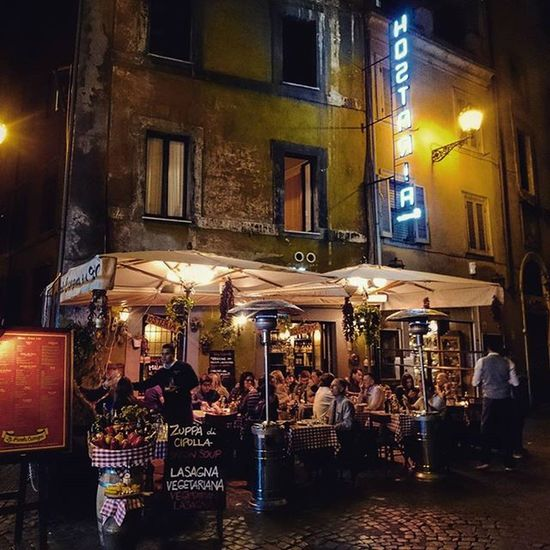 Roma Ristorante Hostaria People Rzym Restauracja Ludzie