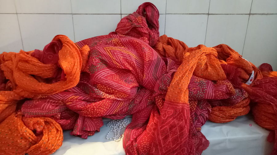 Indoors  Red Business Finance And Industry No People Wool Day Close-up Colour Full Cloth