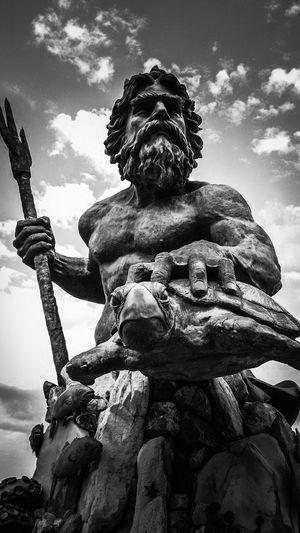 Walking Around King Neptune Black And White Black And White Friday