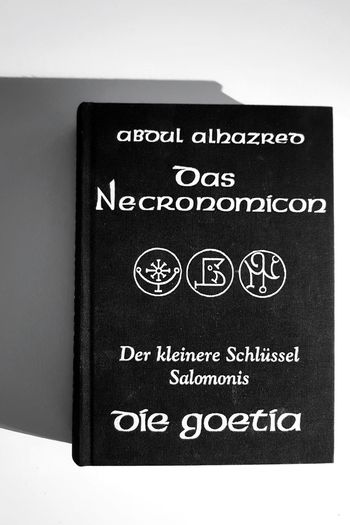 Text No People Instructions Close-up Books ♥ Book Cover Book Monochrome _ Collection Monochrome Photograhy Black & White Monochrome Blackandwhite Monochrome Photography Lovecraft H.P.Lovecraft Lovecraftian Horror My Point Of View Taking Pictures Taking Photos EyeEm Selects EyeEm Gallery Books Of My Life The Week On EyeEm Necronomicon