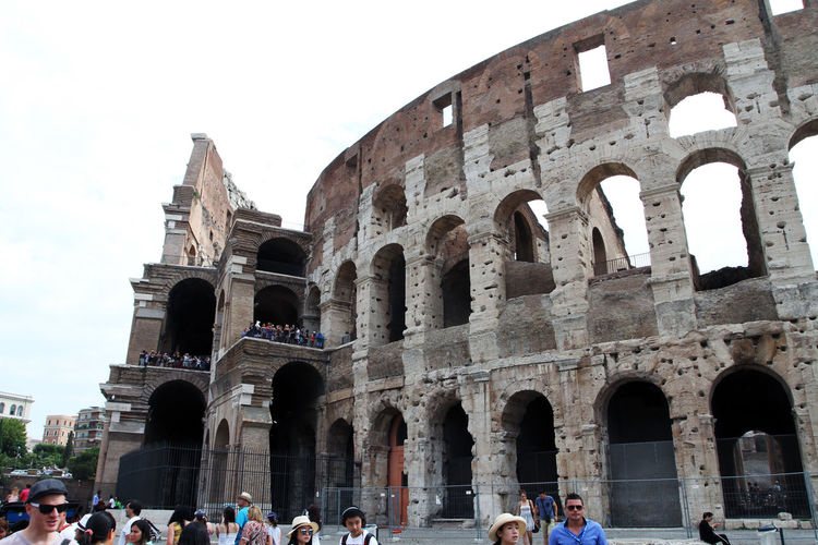 Adult Amphitheater Ancient Ancient Civilization Arch Archaeology Architecture Building Exterior Built Structure Colosseum Crowd Day Group Of People History Large Group Of People Outdoors Real People Sky The Past Tourism Tourist Travel Travel Destinations Visit Women