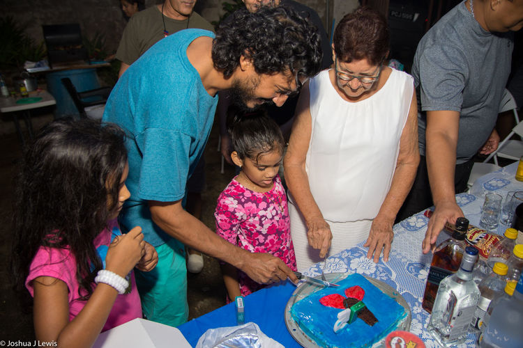 Motherandchildren Birthdayparty People Caribbean Trinidad And Tobago Stillife Beautiful People Motherandson  Togetherness Beautiful Laughing Smiling Family Time Grandmother 75th Cake