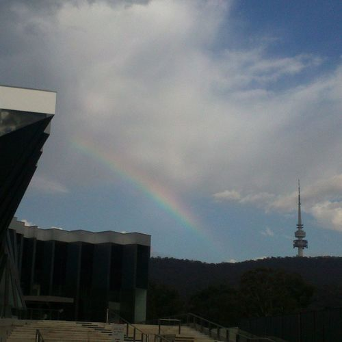 After the floods, lasting promise of a bright new day... Rainbow Jcsmr Anu Igerscanberra nofilter