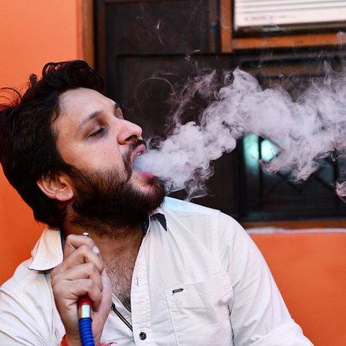 What a relief............. Hukkah Sheesha Mya Smoke Beard Whitesmoke Ankitdogra