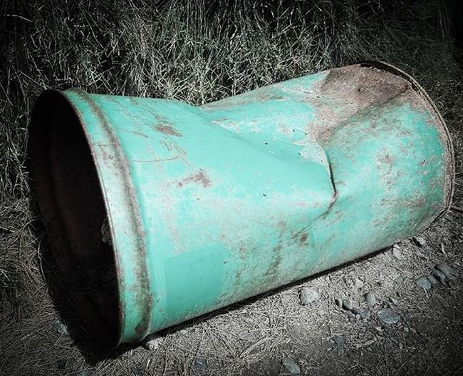 Drum Bin Dented Abandoned Rustlord Green Rust Colors_ofourlives Tv_colors Pocket_colors Rainbow Wall Colors Colours Colorful Colourful Brights