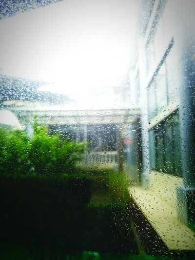 Raining Day Storm Cloud Window Rain Sky