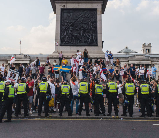 Angry EyeEm Best Shots Far Right Moving Through Europe Nikon Photojournalism Protest Day Documentary England Flag Hate People Protesters Real People Voilence The Photojournalist - 2018 EyeEm Awards